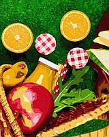 Картина рисование по номерам GX38492 Апельсины из корзинки 40х50см набор для росписи, краски, кисти, холст