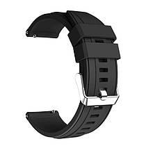 Ремінець для годинника Silicone універсальний bracelet Black, ширина - 22 мм