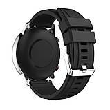 Ремінець для годинника Silicone універсальний bracelet Black, ширина - 22 мм, фото 3