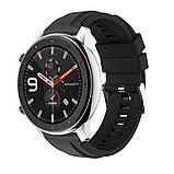 Ремінець для годинника Silicone універсальний bracelet Black, ширина - 22 мм, фото 4