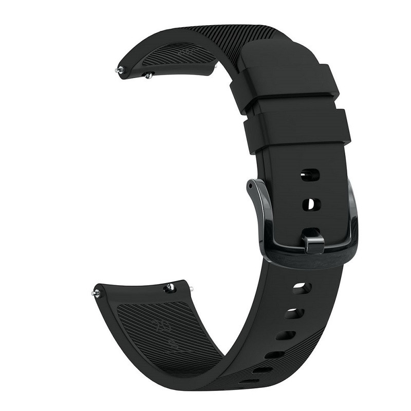Ремешок для часов Silicone bracelet Universal, 20 мм. Type B Black