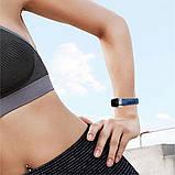 Ремінець для фітнес браслета Steel-Leather design bracelet for Xiaomi Mi Band 3/4 BLue, фото 5