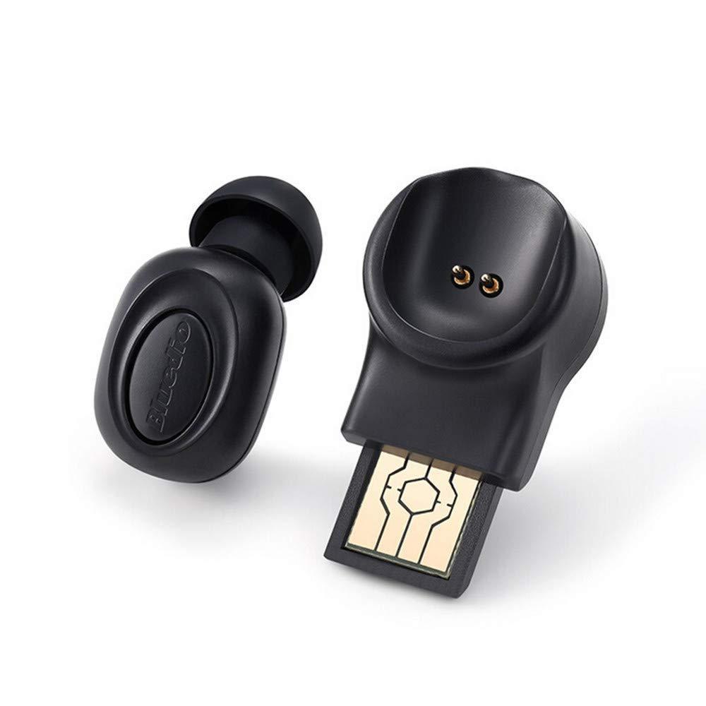 Мініатюрна бездротова гарнітура Bluedio T Black Bluetooth 5.0