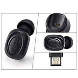 Беспроводная миниатюрная гарнитура Bluedio T Black Bluetooth 5.0, фото 4