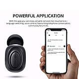 Мініатюрна бездротова гарнітура Bluedio T Black Bluetooth 5.0, фото 5
