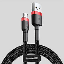 Кабель швидкої зарядки Baseus Micro USB 2.4 A Black/Red, довжина - 100 см (CAMKLF-E91)