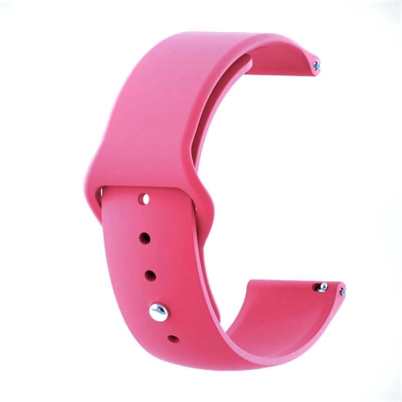 Ремінець для годинника Sport design bracelet Універсальний, 20 мм. Pink