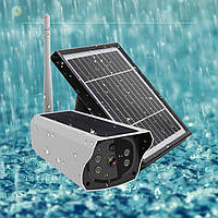 Уличная Wi-Fi IP камера видеонаблюдения с солнечной панелью аккумуляторная система 2Мп 4G с Sim картой