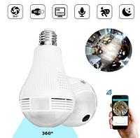 Камера видеонаблюдения панорамная потолочная Лампочка IP WiFi CAMERA SMART CAD-B13 H302 2MP Камера наблюдения