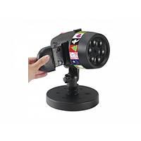 Лазерный новогодний проектор уличный с пультом Laser Star Projector праздничные проекции 12 слайдов