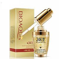 Сыворотка для лица с гиалуроновой кислотой и золотом 24K BIOAQUA 24k Gold Skin Care, 30мл.
