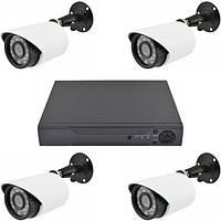 Готовый комплект Видеонаблюдения на 4 камеры Ukc 4CH AHD 1080P 3.6 мм 1 mp х система видеонаблюдения