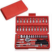 Набор инструментов Набор торцевых головок с насадками в чемодане комплект универсальных ручных инструментов
