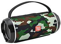 Портативная беспроводная Bluetooth колонка Акустическая музыкальная колонка USB с ручкой T&G TG-116C Камуфляж