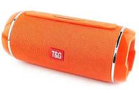 Портативная беспроводная Bluetooth колонка Акустическая музыкальная колонка USB с ручкой T&G TG-116C Оранжевая