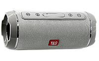 Портативная беспроводная Bluetooth колонка Акустическая музыкальная колонка USB с ручкой T&G Серая