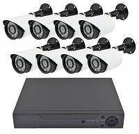 Готовый Комплекты видеонаблюдения на 8 камер уличный с регистратором Full HD набор видеонаблюдения
