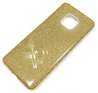 Чохол силіконовий Shiny з блискітками для Huawei Mate 20 Золотистий