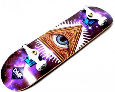 СкейтБорд деревянный Fish Skateboard Mason с рисунком, с усиленной подвеской