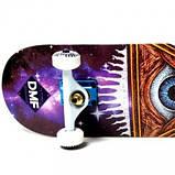 СкейтБорд деревянный Fish Skateboard Mason с рисунком, с усиленной подвеской, фото 2