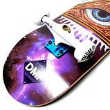 СкейтБорд деревянный Fish Skateboard Mason с рисунком, с усиленной подвеской, фото 3