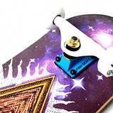 СкейтБорд деревянный Fish Skateboard Mason с рисунком, с усиленной подвеской, фото 4