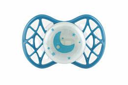 Детская пустышка для новорожденного от 0-мес, симетричная (светится в темноте), Air55 Cool, Nuvita