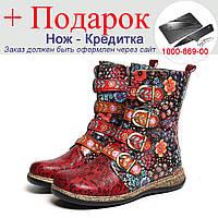 Чобітки Socofy SKUD18659 ручної роботи жіночі 38р