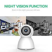 Камера Видеонаблюдения поворотная WIFI IP CAMERA PTZ Q12 2Мп с датчиком движения и ночным
