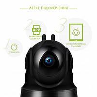 Камера Видеонаблюдения Беспроводная WIFI IP 360 CAMERA PTZ Q10 HD 720P с передачей звука в обе стороны