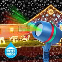 Лазерный новогодний светодиодный проектор уличный для световых эффектов STAR SHOWER лазерная подсветка