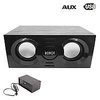 Колонки для компьютера PC USB RS130 ROBOT Desktop speakers акустическая система в деревянном корпусе