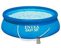 Надувной бассейн Intex 28142 NP (396х84 см) с насосом Easy Set Pool Голубой (ip100093)