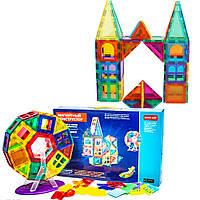Детский конструктор Светящийся магнитный 3D для самых маленьких Замок 686-80E 80 элементов разной формы