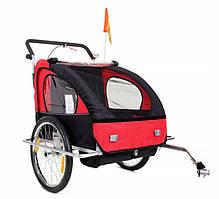 Велоприцеп двухместный Jogger Red