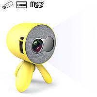 Проектор для дома портативный детский мини проектор для домашнего кинотеатра светодиодный YG220 1080P
