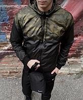 Мужская ветровка с капюшоном весна-осень, куртка демисезон стильная спортивная легкая
