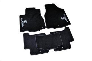 Ворсовые коврики для Acura MDX (+3ряд) (2007-2010) Текстильные в салон авто (чёрный) (StingrayUA.)