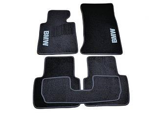 Ворсовые коврики для BMW 3-серия (Е90) (2005-2011) Текстильные в салон авто (чёрный) (StingrayUA.)