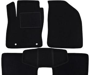 Ворсовые коврики для Daihatsu Sirion Текстильные в салон авто (чёрный) (StingrayUA.)
