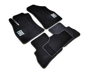 Ворсовые коврики для Fiat Doblo II (2010-) Текстильные в салон авто (чёрный) (StingrayUA..)