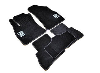 Ворсовые коврики для Fiat Dukato Текстильные в салон авто (чёрный) (StingrayUA.)