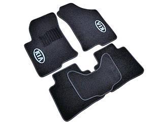 Ворсовые коврики для Kia Cerato (2008-) Текстильные в салон авто (чёрный) (StingrayUA.)