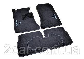 Ворсовые коврики для Mercedes E-class (W210) (1995-2001) Текстильные в салон авто (чёрный) (StingrayUA.)