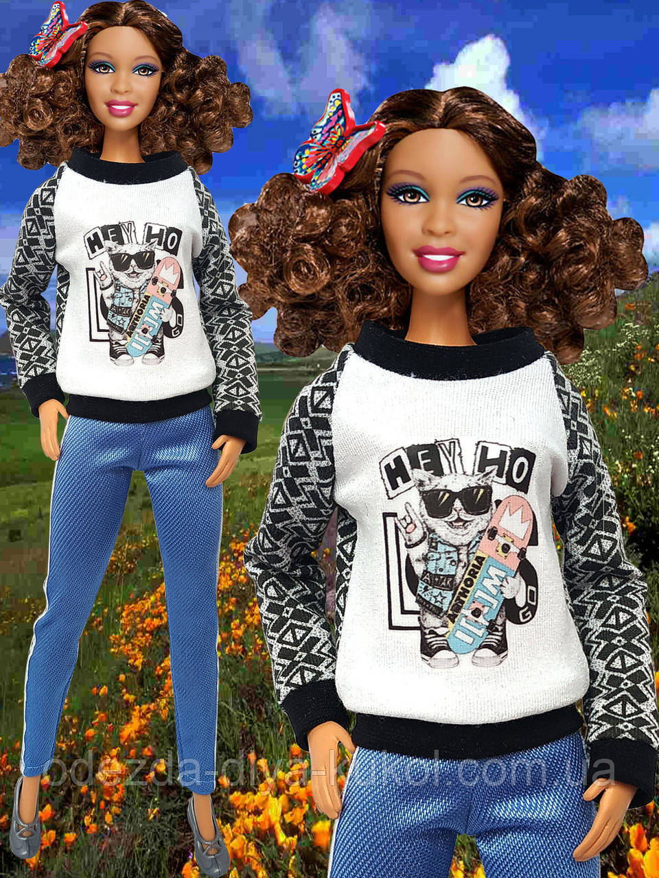 Одяг для ляльок Барбі - кофта