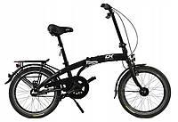 Складной алюминиевый велосипед Cossack 20 black Польша, фото 1