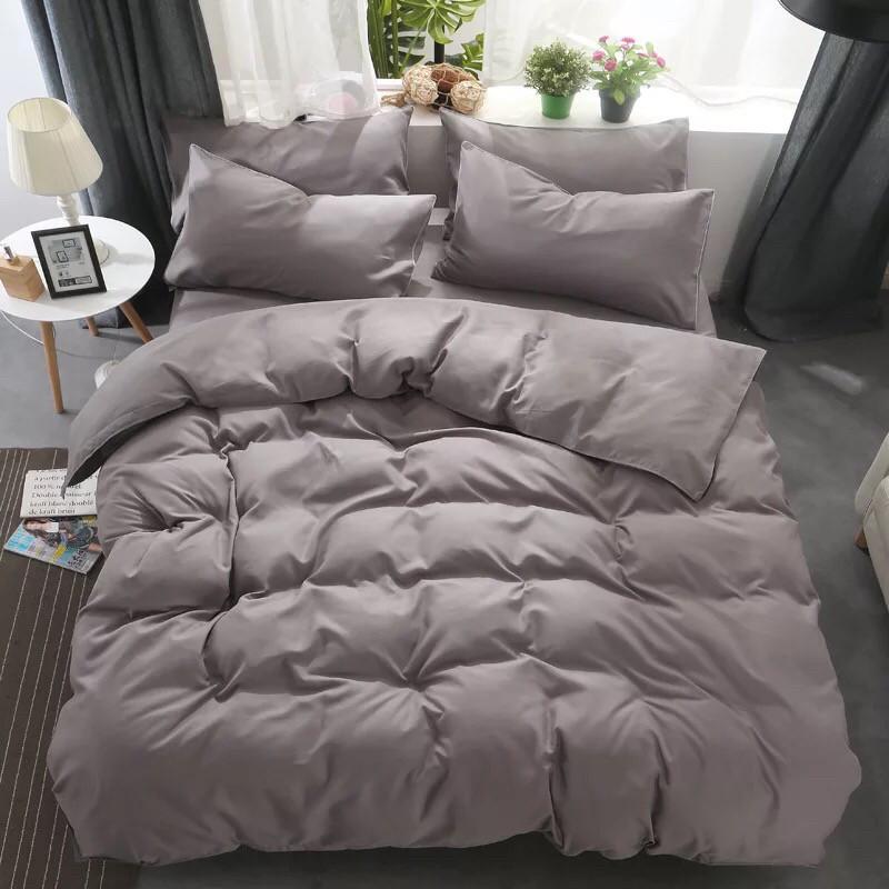 Комплект постільної білизни Bella Villa сатин Євро коричневий
