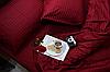"""Постельное белье евро с резинкой """"Элит"""" цветной страйп-сатин люкс (14734)"""