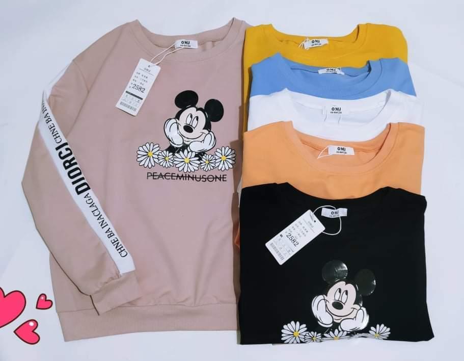Красивый пуловер с Микки Маусом 44-48 (в расцветках)