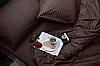"""Постільна білизна """"Еліт"""" двоспальне євро 200х220 кольоровий страйп-сатин люкс (11951)"""
